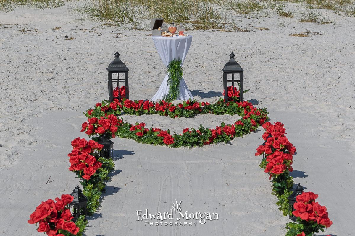 Gulf Shores Beach Wedding Package Red Heart Walk (3)