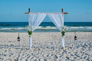 Beach Wedding bamboo arch-4