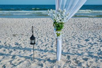 Beach Wedding bamboo arch-3
