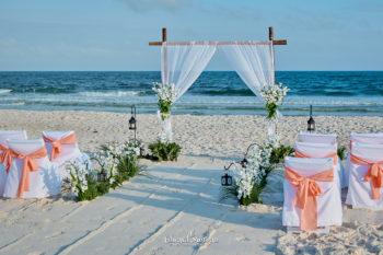 Beach Wedding bamboo arch-5