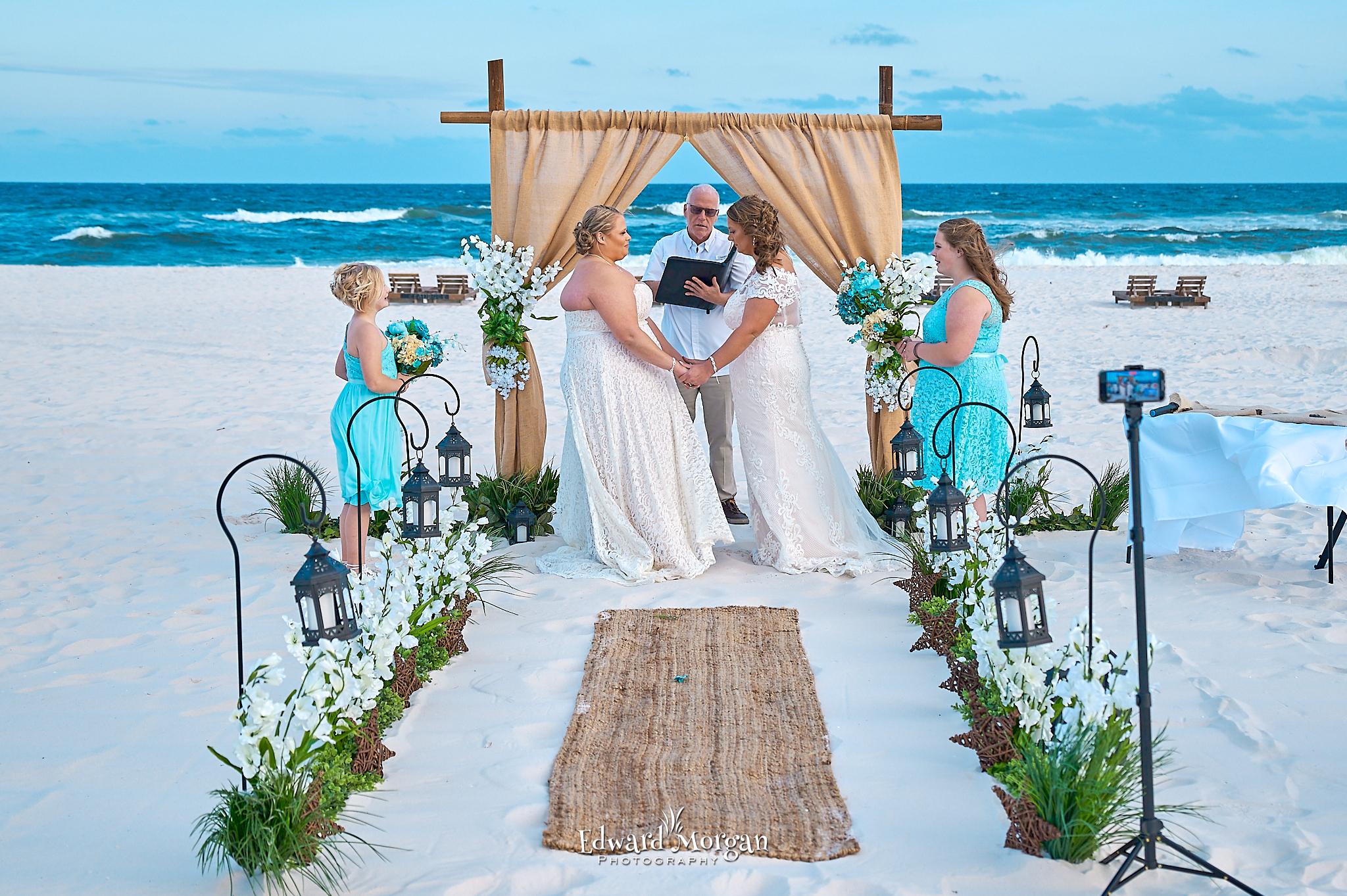 Country wedding setup