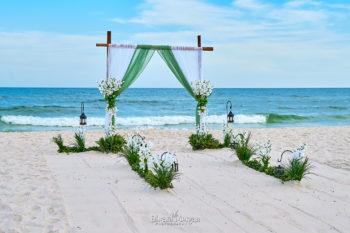 Green wedding arch