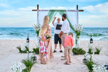 Beach Wedding bamboo arch-1